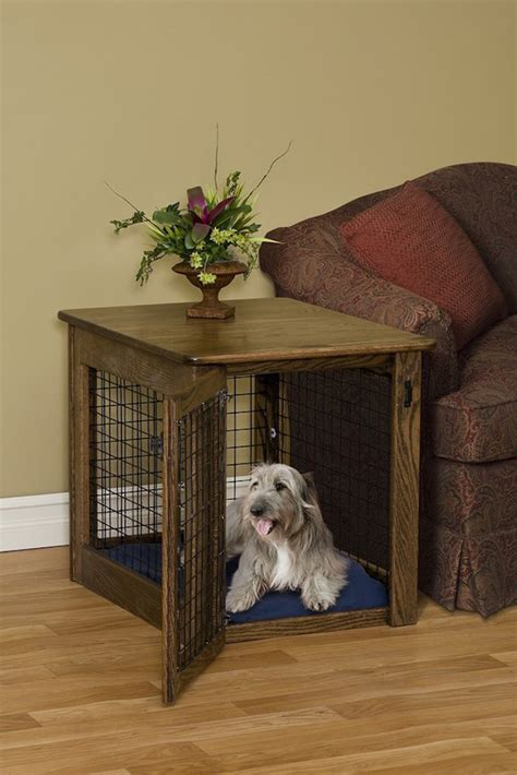 dog crate side table 15 stylish pet beds that also serve as great looking tables