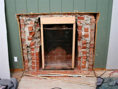 resurfacing fireplace with removing a brick fireplace hgtv