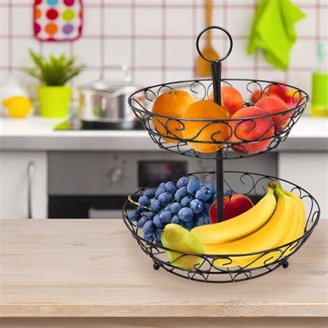 sorbus  tier countertop fruit basket holder decorative