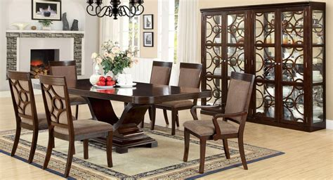 woodmont contemporary walnut formal dining set