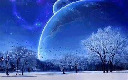 Winter Animated Scene Wallpapers Space Desktop Scenes