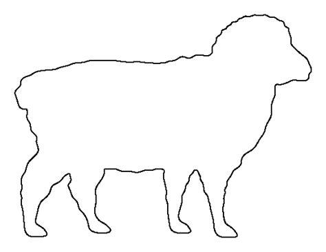 printable sheep template