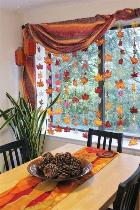 Herbstdeko Fenster Innen by Herbstdeko F 252 R Den Tisch Und Fensterdeko Innen Deko