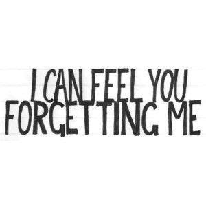 Now You Forgot Me Quotes