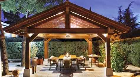 hogar  los cenadores de madera  el jardin