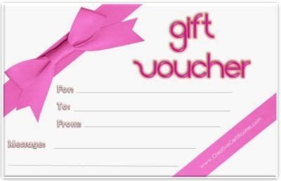 printable gift voucher template instant