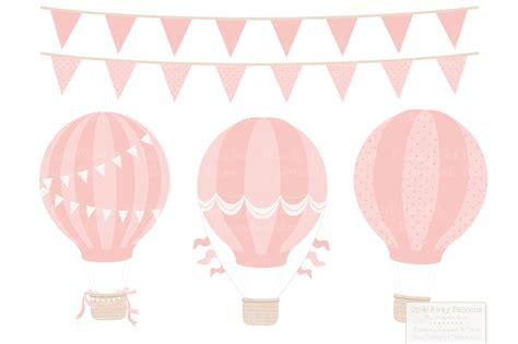 pastel girls hot air balloons patterns by amanda ilkov thehungryjpeg com