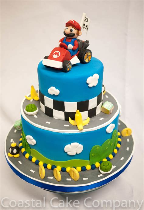 Mario Kart Themed Birthday Cake
