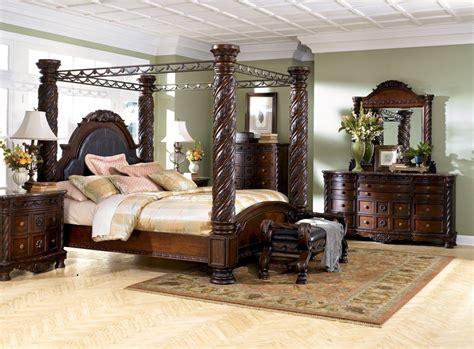 North Shore Canopy Bed Set-ashley North Shore Furniture