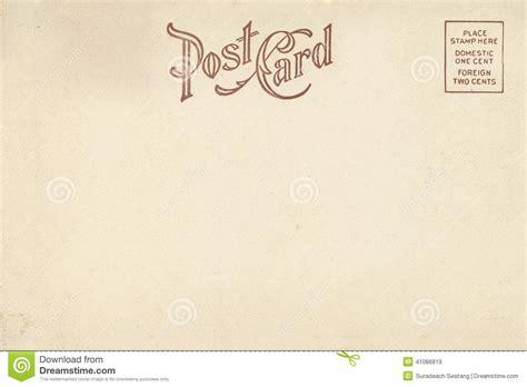 Vintage Postcard Template Photoshop Wallpaper Back Of Vintage Blank Postcard Stock Image Image 41086819