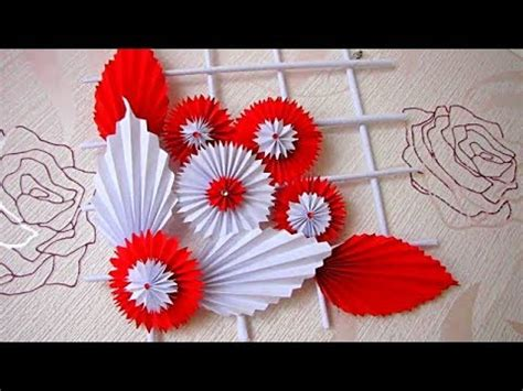diy simple home decor wall decoration hanging flower