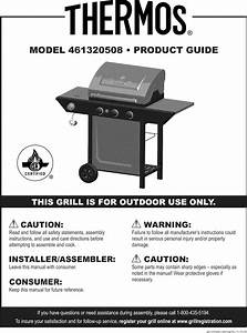 Thermos 461320508 User Manual Gas Grill Manuals And Guides