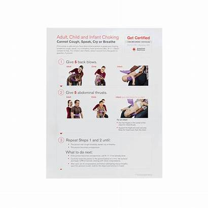 Choking Poster Skill Cpr Cross Aid Aed