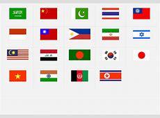 Asien Flaggen ErdkundeQuiz