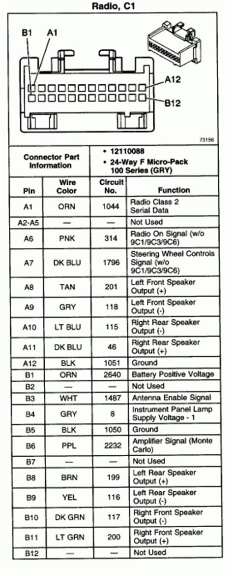 Chevy Impala Radio Wiring Diagram Fuse Box