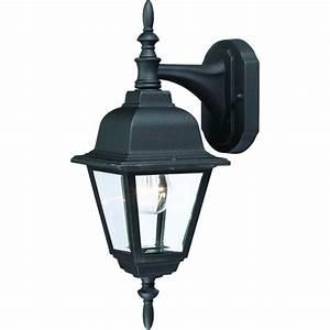 Outdoor patio porch black exterior light fixture for Light fixtures exterior