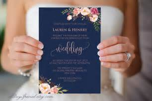 vista print wedding invitations navy wedding invitation template pink coral boho chic floral