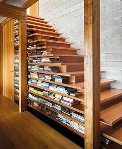 Etagere Bois Design : tag re escalier sous les marches la place 44 id es ~ Teatrodelosmanantiales.com Idées de Décoration