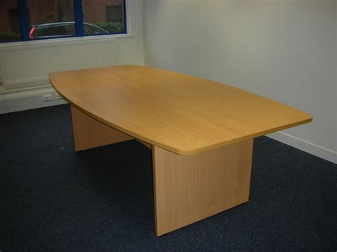 New Beech Boardroom Table 2400 Length 25000 Vat