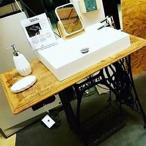 Diy Meuble Salle De Bain : diy meuble de salle de bain avec une ancienne machine coudre oui are makers partageons ~ Mglfilm.com Idées de Décoration