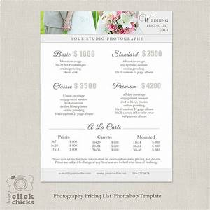 wedding photography package pricing list template With wedding photography pricing guide template