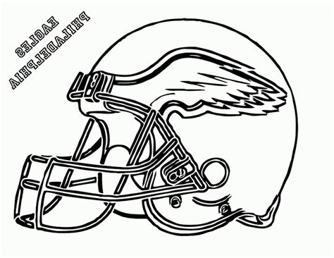 Football Helmet Coloring Pages Eagles 492209 Coloring