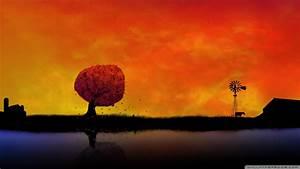 Download Autumn Sunset 2 Wallpaper 1920x1080 | Wallpoper ...