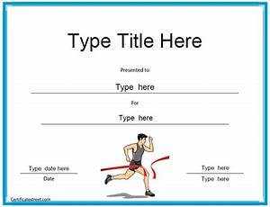 Sport Certificate Templates Sports Certificates Running Award Certificate Template