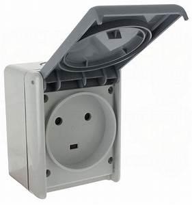 Prise électrique Extérieure étanche Legrand : prise saillie tanche 2p t 32a volet legrand plexo gris ~ Dallasstarsshop.com Idées de Décoration