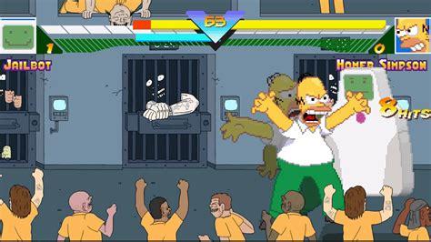 mugen superjail prison riot stage gameplay youtube