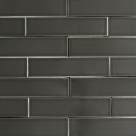 kiln ceramic 2x8 carbon dark gray ceramic tile tile