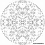 Mandala Heart Coloring Pages Mandalas Number Christmas Sheets Printable Chainmail Patterns Adults Transparent Suncatcher Drawing Numbers Adult Template Celtic Format sketch template