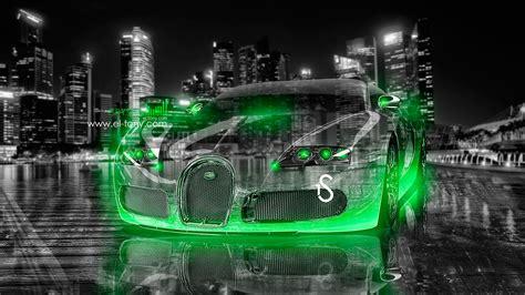 green bugatti bugatti veyron crystal city car 2013 el tony