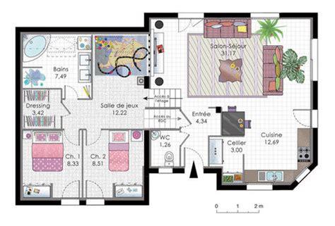 plan maison demi niveau 4 chambres maison en demi niveaux dé du plan de maison en demi