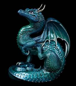 """Windstone editions """"water sprite #1"""" scratching dragon ..."""