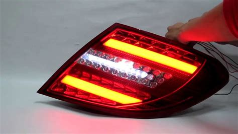 w204 2008 2013 sedan led rear light clear w led