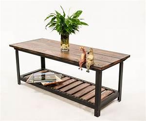 custom made vintage industrial style coffee table by With industrial look coffee table