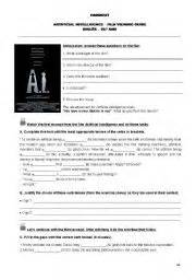 English teaching worksheets: Artificial Intelligence
