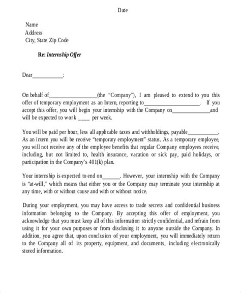 letter of recommendation for internship internship reference letter templates 7 free word pdf 53670