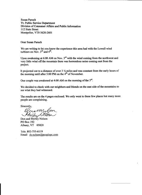 Noise Complaint Letter - A Noise Complaint letter could be
