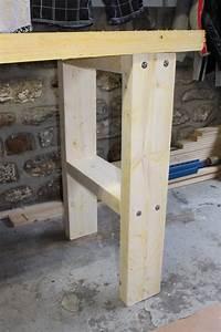 Construire Un établi En Bois : bricolage diy fabriquer son tabli en bastaing tape 2 ~ Premium-room.com Idées de Décoration