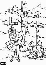 Jesus Coloring Pages Bible Friday Christian Sunday Crafts Thieves Soldier Calvary Roman Crucified Between Catholic Easter Activities Under Oncoloring Db sketch template
