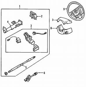 Chevrolet Aveo Ignition Lock Housing  Steering  Column