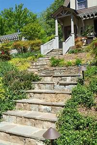 Outdoor stone steps ideas landscape traditional with