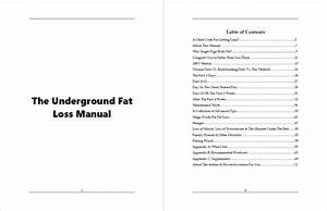The Underground Fat Loss Manual Review  A Truly