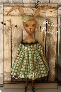 Veenas Mercantile Primitive Vintage Style Rabbit Doll