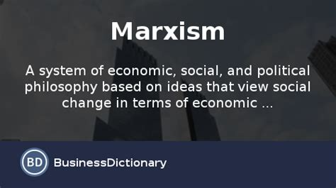 marxism definition  meaning