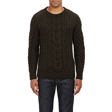 cable sweater mens ralph black label chunky cable knit sweater in