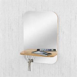 Miroir Pour Entrée : miroir d 39 entr e avec tag re et aimants cl s ~ Teatrodelosmanantiales.com Idées de Décoration