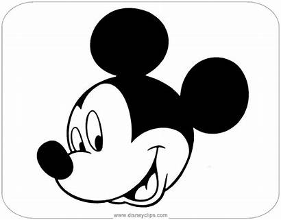 Mickey Mouse Coloring Face Pages Disneyclips Disney